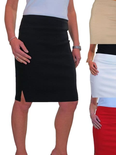 Ladies Casual Stretch Knee Length Pencil Skirt